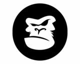 black silhouette gorilla