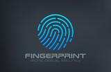 Fingerprint Logo Touch Security design vector template...Biometr - 84623008