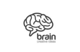 Brain Logo design vector template. Generate idea...Brainstorming - 84623057