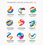 Fototapety Set of trendy abstract, vibrant and colorful icons
