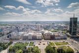 Warszawa z tarasu Pałacu Kultury i Nauki