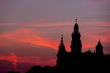 Wawel Castle and Cathedral Silhouette in Krakow