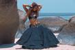 Tribal style woman on the beach