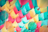 Fototapety colorful balloons with happy celebration party background