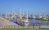Hafen Dornumersiel in Ostfriesland an der Nordsee