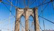 closeup Brooklyn Bridge in New York City