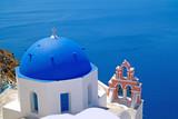 Fototapeta Traditional architecture of Oia village on Santorini island, Gre