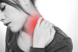 Young  woman with a pain in the neck