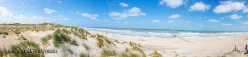 Fotobehang Noordzee Nordseestrand in Westflandern Belgien