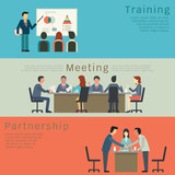 Fototapety Business concept set