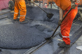 laying of mastic surface poster