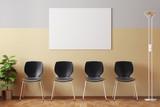 Wartezimmer mit Bilderrahmen und Stühlen - 84713047