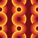 Fototapety Seamless geometric vintage wallpaper vector illustration