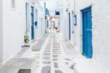 Fototapety Mykonos streetview, Greece