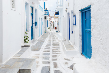 Mykonos streetview, Greece © zgphotography