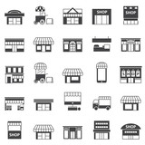 Fototapety store and building  icon set