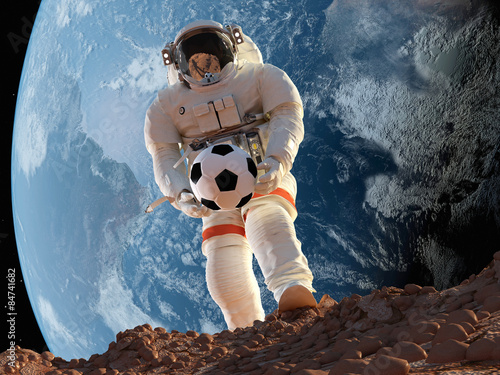 Astronauta z piłką