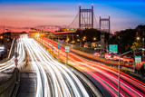 Fototapety Light trails on I-278 near Triboro Bridge in New York