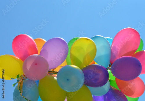 multicolored balloons © Natallia Vintsik