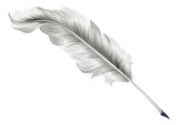 Classic feather quill illustration