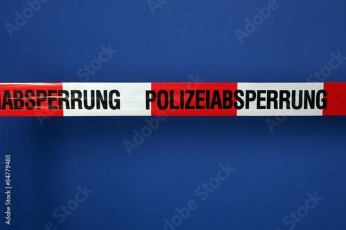 Poster Polizeiabsperrband / Polizeiabsperrung