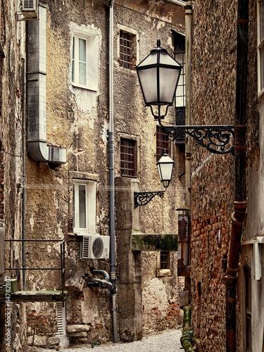 Old narrow street in Zagreb, Croatia - 84782807