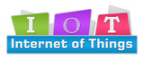 IoT - Internet Of Things Colorful Blocks On Top  poster