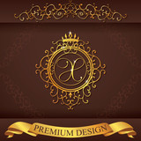 Letter X. Luxury Logo template flourishes calligraphic elegant ornament lines. Business sign, identity for Restaurant, Royalty, Boutique, Hotel, Heraldic, Jewelry, Fashion, vector illustration poster
