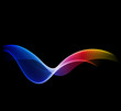 Shiny color waves vector backgrounds