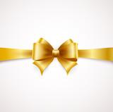 Fototapety Golden bow. Vector illustration