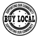 Buy local  stamp
