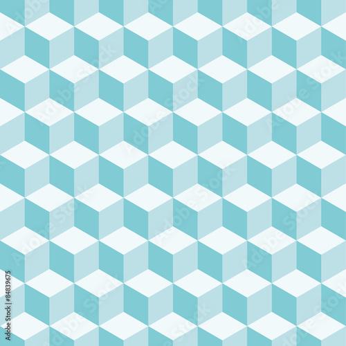 Cubes 3d pattern background. Retro vector pattern.
