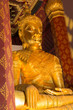 Golden color The crowned Buddha in the ubosot