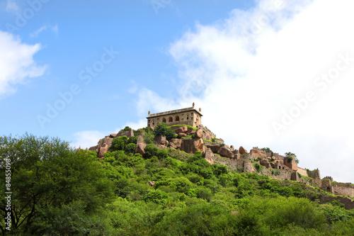 Historic Golkonda fort in Hyderabad, India. Poster