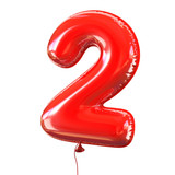 Fototapety balloon font number 2