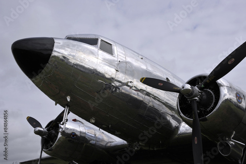 Poster Avion DC3 Vintage