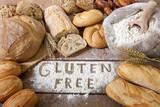Fototapety a gluten free breads on wood background