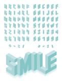 Fototapety Isometric 3d type font set