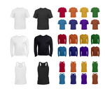 Fototapety Big blank t-shirt and top collection for men
