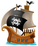 Pirate Ship Topic Image 1 Wall Sticker
