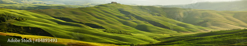 Obraz na Szkle Green Tuscany hills - panorama