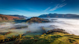 Fototapety View from Catbells looking towards Skiddaw in The Lake District, Cumbria, England