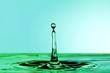 Wasser Figur, grün blau