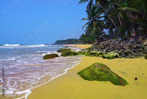 tropikalnej plaży