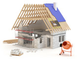 Fototapety House build 3D