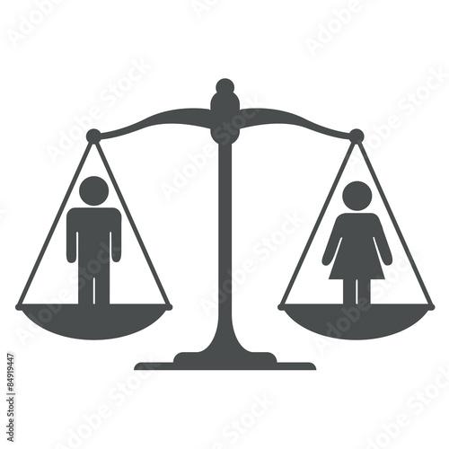 Icono Balanza Con Simbolo Hombre Mujer Gris Buy Photos Ap Images