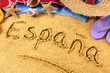 Obrazy na płótnie, fototapety, zdjęcia, fotoobrazy drukowane : Spain beach writing