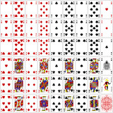 Poker cards full set four color classic design 300 dpi