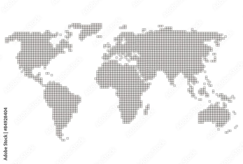 世界 地図 アイコン Wall Sticker Wall Stickers