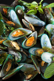 scald mussel pour with spicy seafood sauce poster
